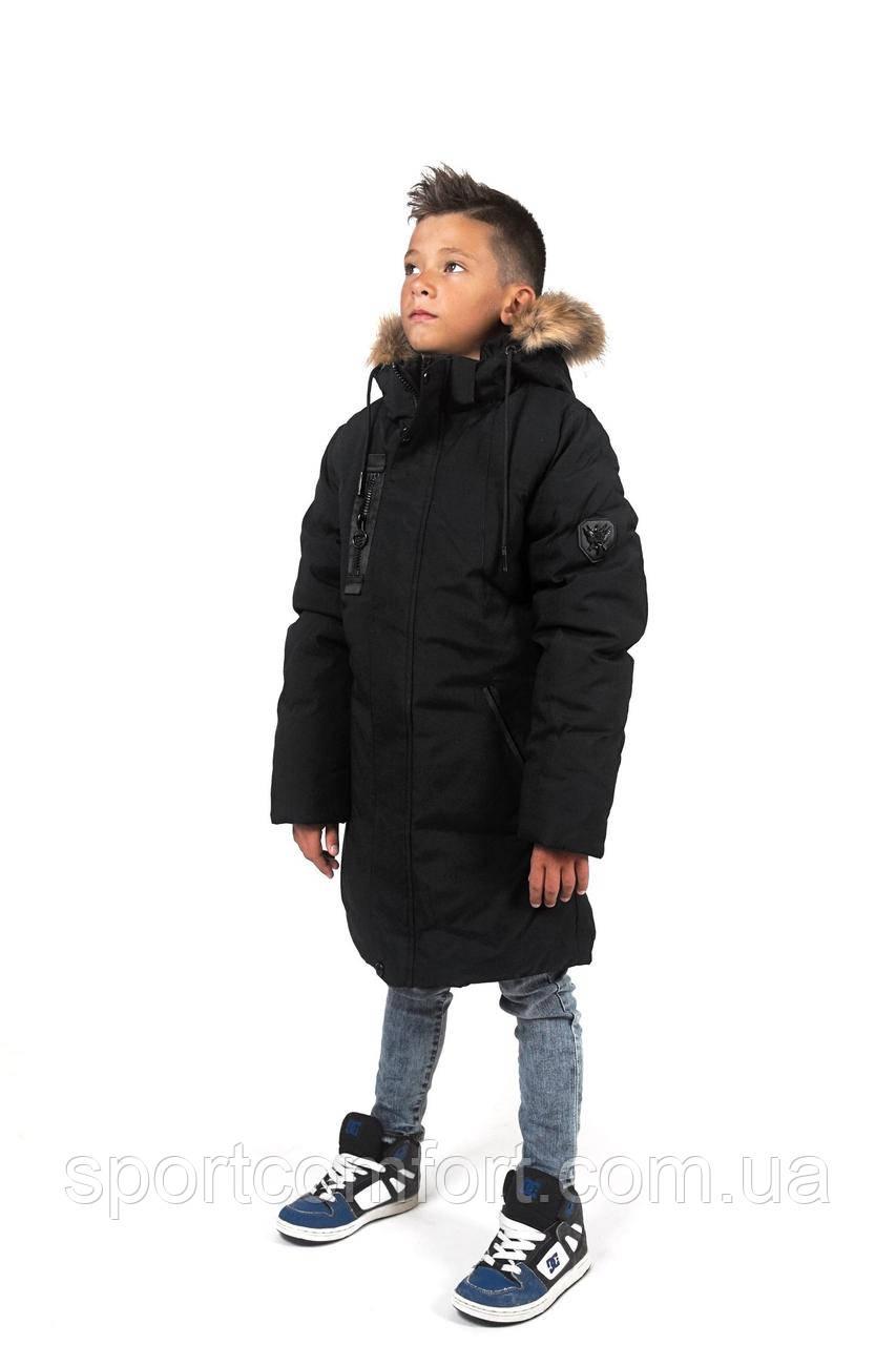 Куртка детская удлинённая freever чёрная