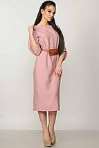 Женское однотонное платье-миди (Меган ri), фото 3