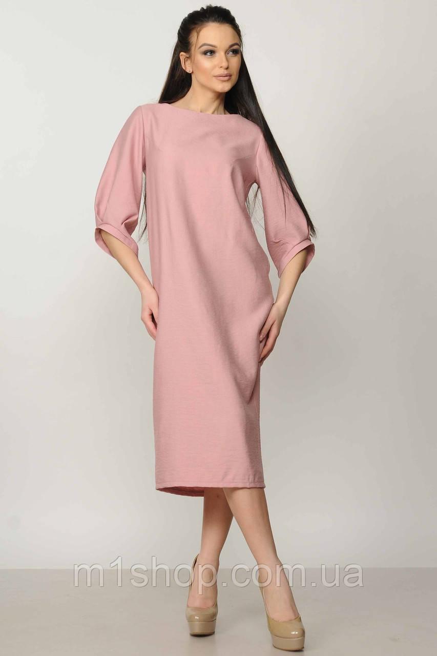 Женское однотонное платье-миди (Меган ri)