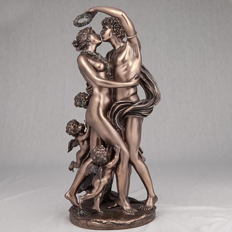 Скульптура Veronese Зефир и Флора Божественная любовь 37 см 73010