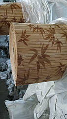 "Бамбуковые обои ""Листья бамбука"" коричневые, 1,5 м, ширина планки 8 мм / Бамбукові шпалери"