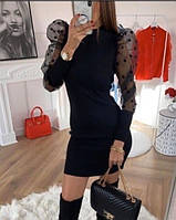 Платье женское стильное с рукавами фонариками, фото 1