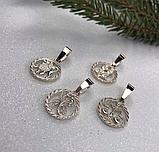Кулон-подвес  серебряный Знаки Зодиака, фото 2