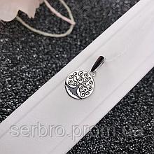 Кулон в родированном серебре Дерево жизни