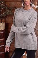 Нарядный женский свитер свободного кроя Турция