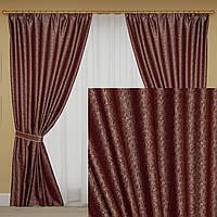 Бордовые шторы жаккард. Ткань Турция