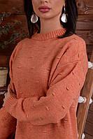 Красивый однотонный свитер свободного кроя Турция, фото 1