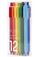 Набор гелевых ручек Xiaomi Kaco Pure Plastic Gel Ink Pen Colors (12 шт)