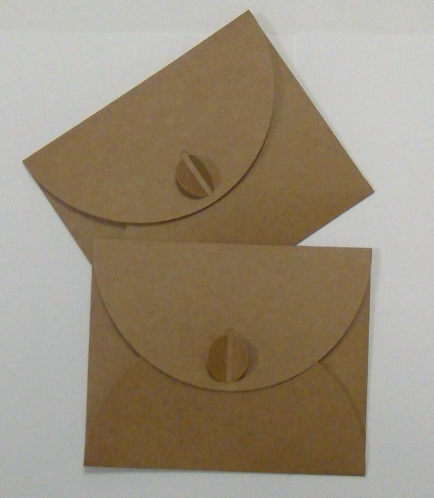 Подарочный конверт из эко крафт-картона 130 х 160 мм + ПОДАРОК (на 100 шт конвертов)