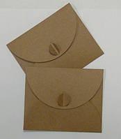 Подарочный конверт из эко крафт-картона 130 х 160 мм + ПОДАРОК (на 100 шт конвертов), фото 1