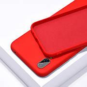 Силиконовый чехол SLIM на Meizu 16X  Red