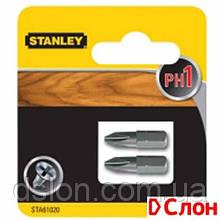 Набор бит STANLEY STA61020, односторонняя, Philips, Ph1, L = 25 мм, 2 шт, блистер