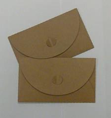 Подарочный конверт из эко крафт-картона 155 х 90 мм + ПОДАРОК (на 100 шт конвертов)