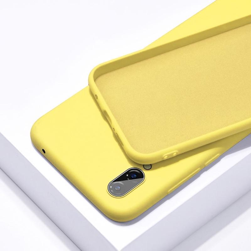 Силиконовый чехол SLIM на Meizu 16X  Yellow