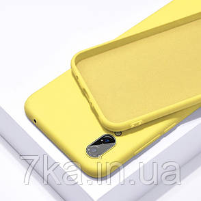 Силиконовый чехол SLIM на Meizu 16X  Yellow, фото 2