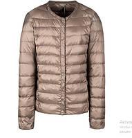 Куртка женская короткая демисезонная  стеганая цвет шампань, размеры  M, опт, фото 1
