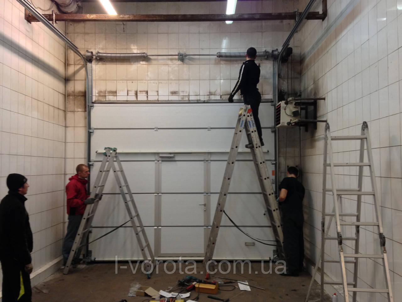 Ремонт ворот секционых гаражных автоматических