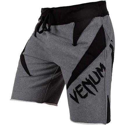 Шорты Venum Jaws Cotton Training Shorts Grey Black, фото 2
