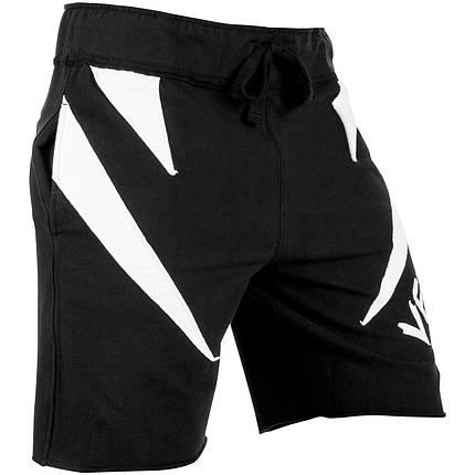 Шорты Venum Jaws Cotton Training Shorts Black White, фото 2