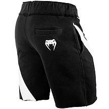 Шорты Venum Jaws Cotton Training Shorts Black White, фото 3