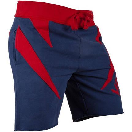 Шорты Venum Jaws Cotton Training Shorts Navy Red, фото 2
