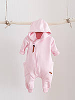 """Детский стильный комбинезон с капюшоном на молнии """"Торнадо"""", розовый. Размеры 62,68,74,80"""
