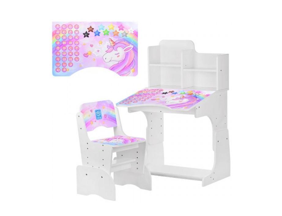 Парта B 2071-42-1 Bambi с единорогами - мебель для детей