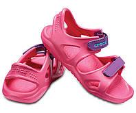 Босоножки сандалии для девочки Кроксы оригинал / Crocs Kids' Swiftwater River Sandal (204988), Розовые, фото 1