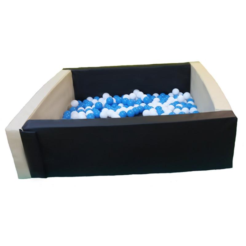 Сухой бассейн квадратный черно-белый 1,5 м