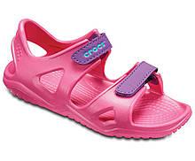 Босоножки сандалии для девочки Кроксы оригинал / Crocs Kids' Swiftwater River Sandal (204988), Розовые