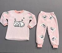 Пижама флисовая на девочку р.92 (2 года), 98 (3 года)