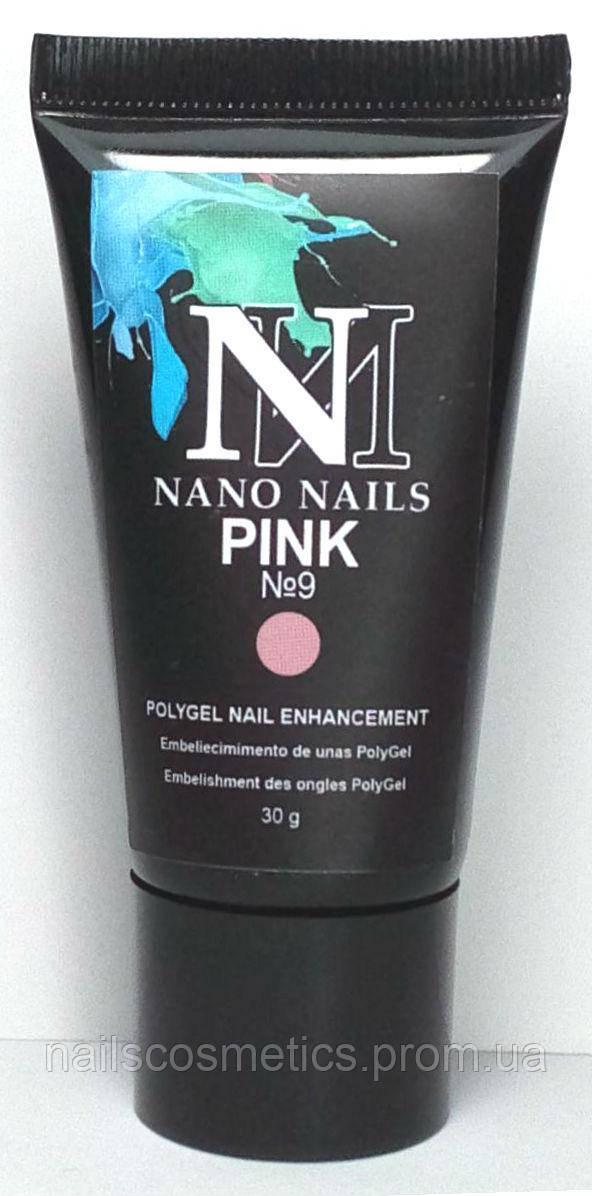 """Акригель """"PINK №9"""" 30g NanoNails"""