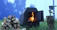 Отопительная печь Буржуй 5 кВт с варочной поверхностью