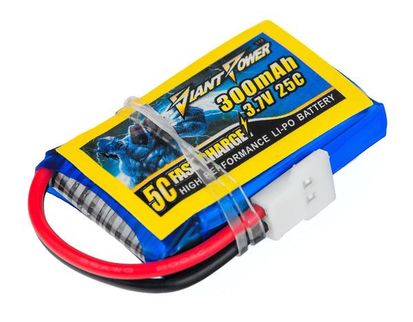 Аккумулятор Giant Power Li-Pol 300mAh 3.7V 1S 25C 8x20x32мм для Walkera/Hubsan