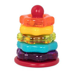 Развивающая игрушка Battat Цветная Пирамидка Battat Stacking Rings