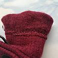 Перчатки женские теплые цвет бордо, фото 4