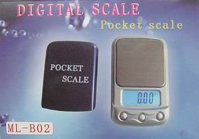 Ювелирные весы Ml-B02 до 100 грамм (шаг 0,01)