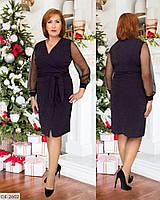 Красивое платье трикотаж люрекс с шифоновыми рукавами размеры 50-56 мод. 746