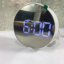 Часы зеркало электронные DT-6505 круглые