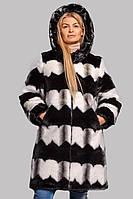 """Шуба женская длинная из эко-меха под норку на молнии в трех цветах 46-56 размер """"Ш-2010"""""""