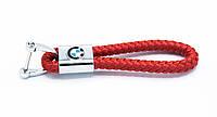 Брелок BMW плетеный + карабин/ Красный, фото 1