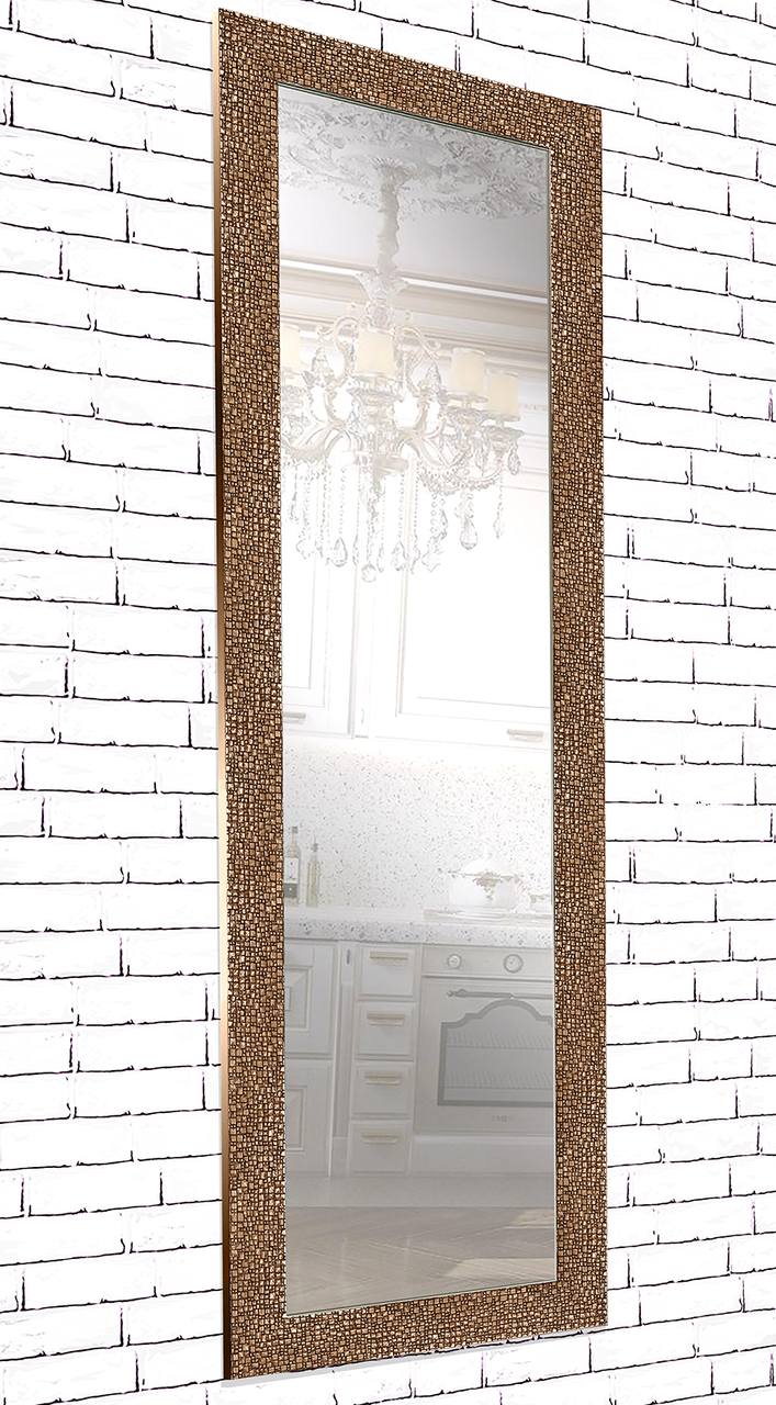 Зеркало настенное в раме Factura Textured copper 60х174 медь