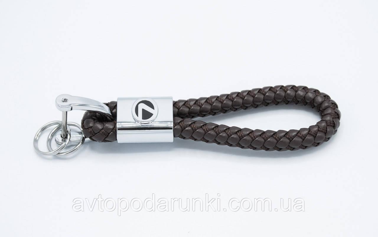 Брелок LEXUS плетеный + карабин/темно-коричневый