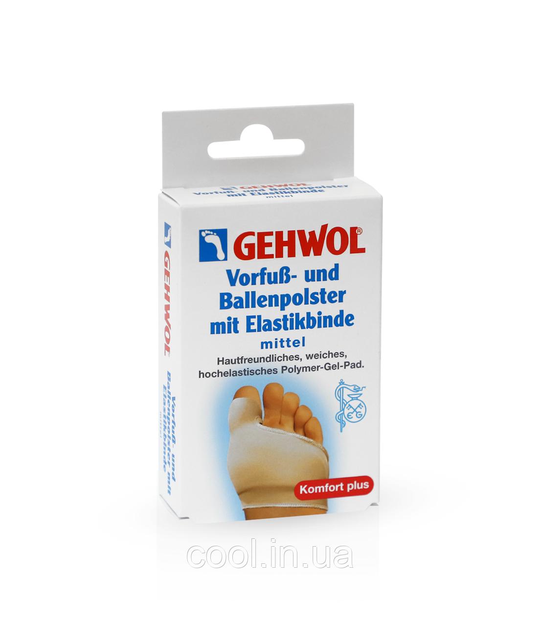 Защитная подушка под плюсну с накладкой на большой палец из гель-полимера и эластичной ткани, средний р GEHWOL