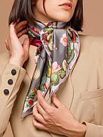 Шикарний хустку жіночий з 100% шовк 2х кольорах E03-7205 Eleganzza