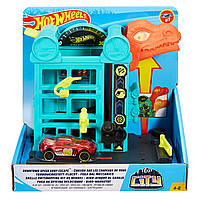 Игровой набор Хот Вилс бронтозавр Hot Wheels City Downtown Speed Shop Escape GBF91