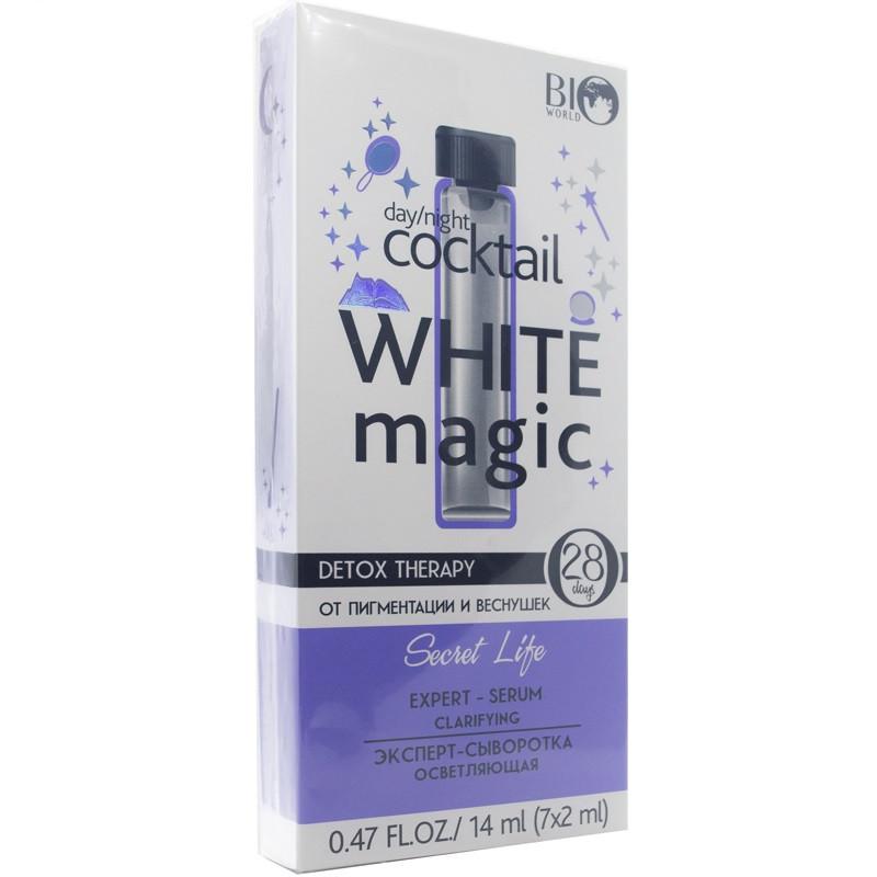 Эксперт-сыворотка осветляющая для кожи лица Bio World Detox Therapy White Magic 14 мл (7 шт.)