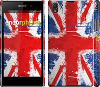"""Чехол на Sony Xperia Z1 C6902 Флаг Великобритании краской """"556c-38"""""""