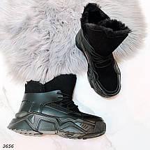 Зимние ботинки черного цвета, фото 2