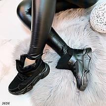 Зимние ботинки черного цвета, фото 3